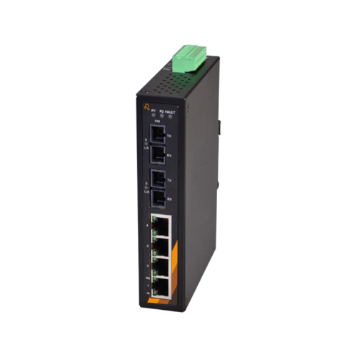 Exsys EX-6203 - 6 Port Industrieller Ethernet Unmanaged Switch